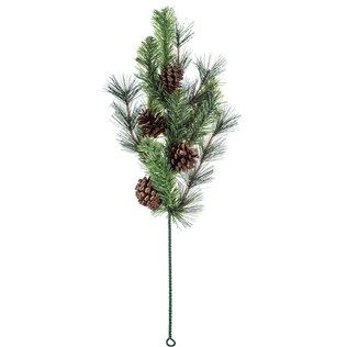 Mixed Glacier Pine Spray With Pinecones Pick Christmas Tree Shop Art Craft Store