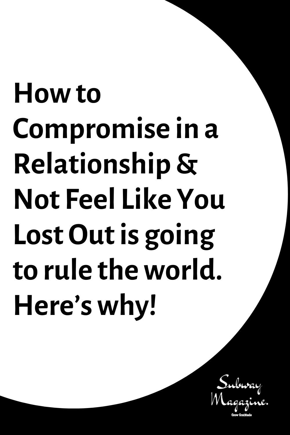 How To Compromise In A Relationship Not Feel Like You Lost Out Is Going To Rule The World Here Relationship Experts Relationship Dysfunctional Relationships