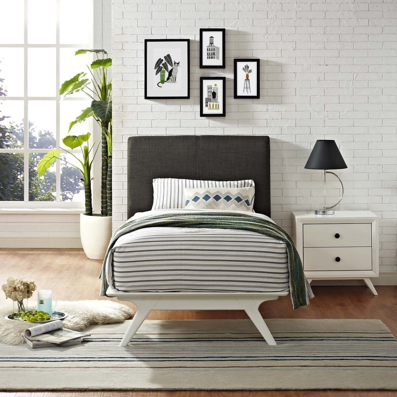 Daybed with pop up trundle ikea modway tracy rubberwood twin bed whitebeige  white finishbeige