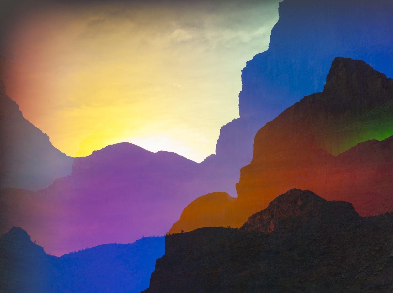 These Psychedelic Rainbow Colored Landscape Photos Make A Subtle Political Statement Sight Unseen Landscape Photos Landscape Photography Colorful Landscape
