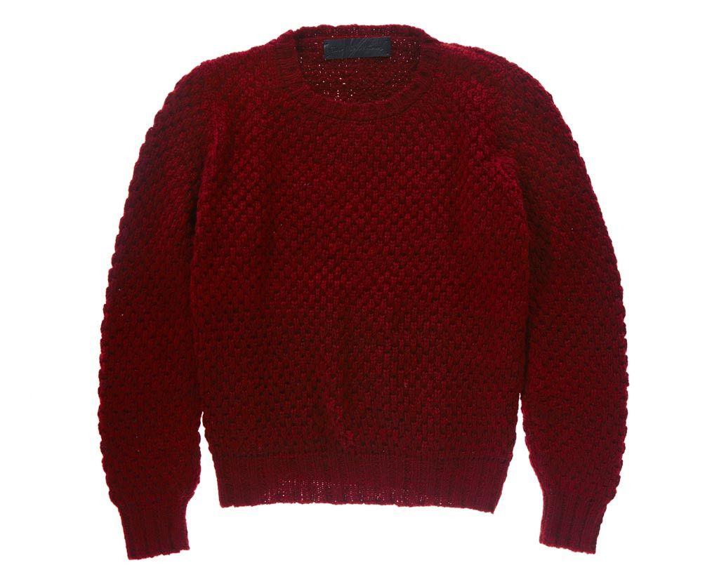 The Elder Statesman Pop Crew Sweater Maroon Red - Tiina the Store