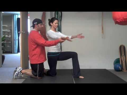 psoas stretch  help ease lower back pain  get fit