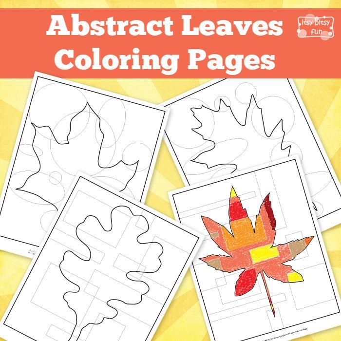 Fall Leaves Printables   Hojas de otoño, Colorear y Abstracto