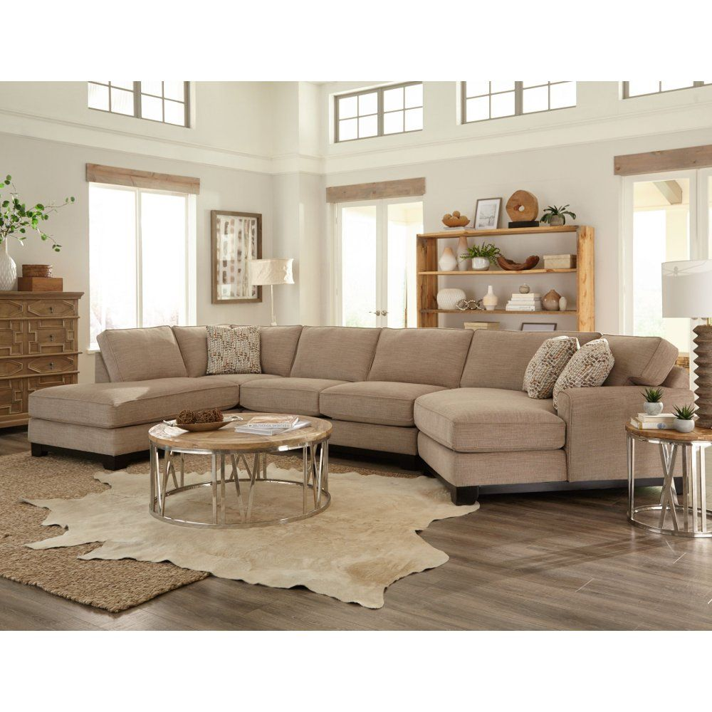 Beige 3 Piece Sectional Sofa with LAF Chaise - Pisces | New ...