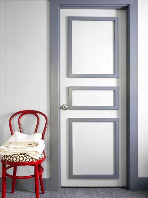 1001 id es originales comment peindre une porte - Comment reboucher une porte ...