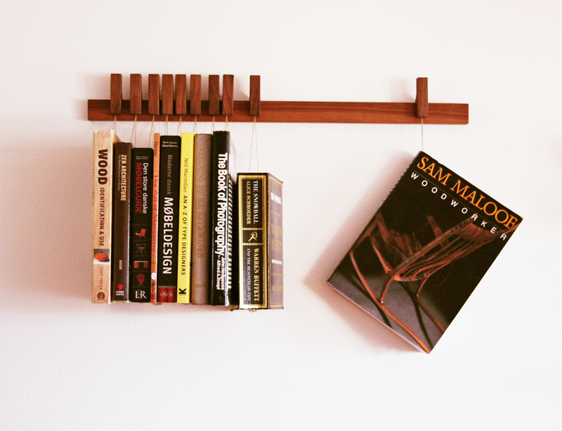 Hanging Book Rack what a cool way to hang display your books! / agustav furniture