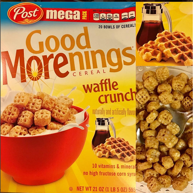 Post Good Morenings Waffle Crunch Cereal (canada)