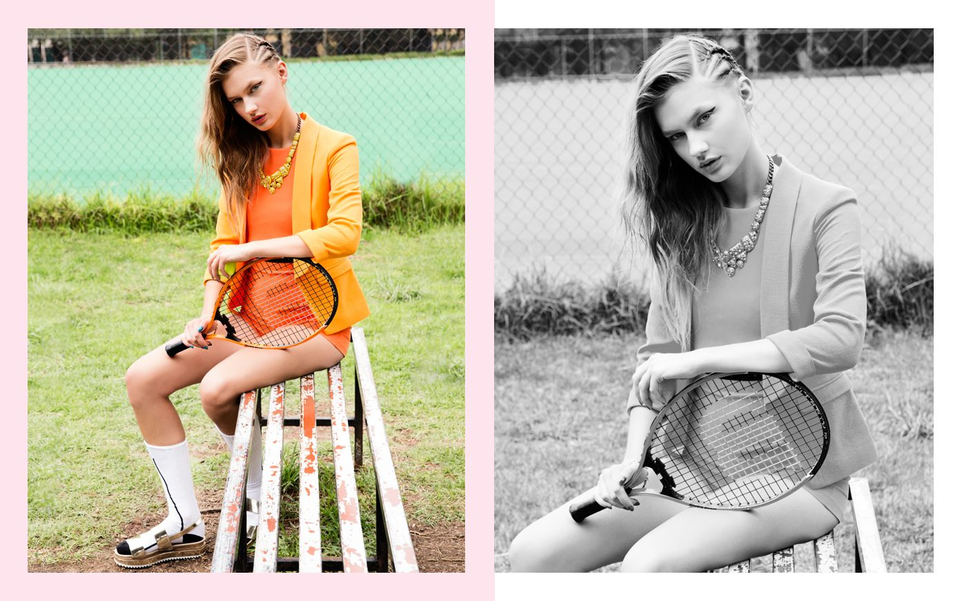 #TenisCourt #Campaign #Orange #Model #Editorial #Spring #Style #Fashion #BiographyMx