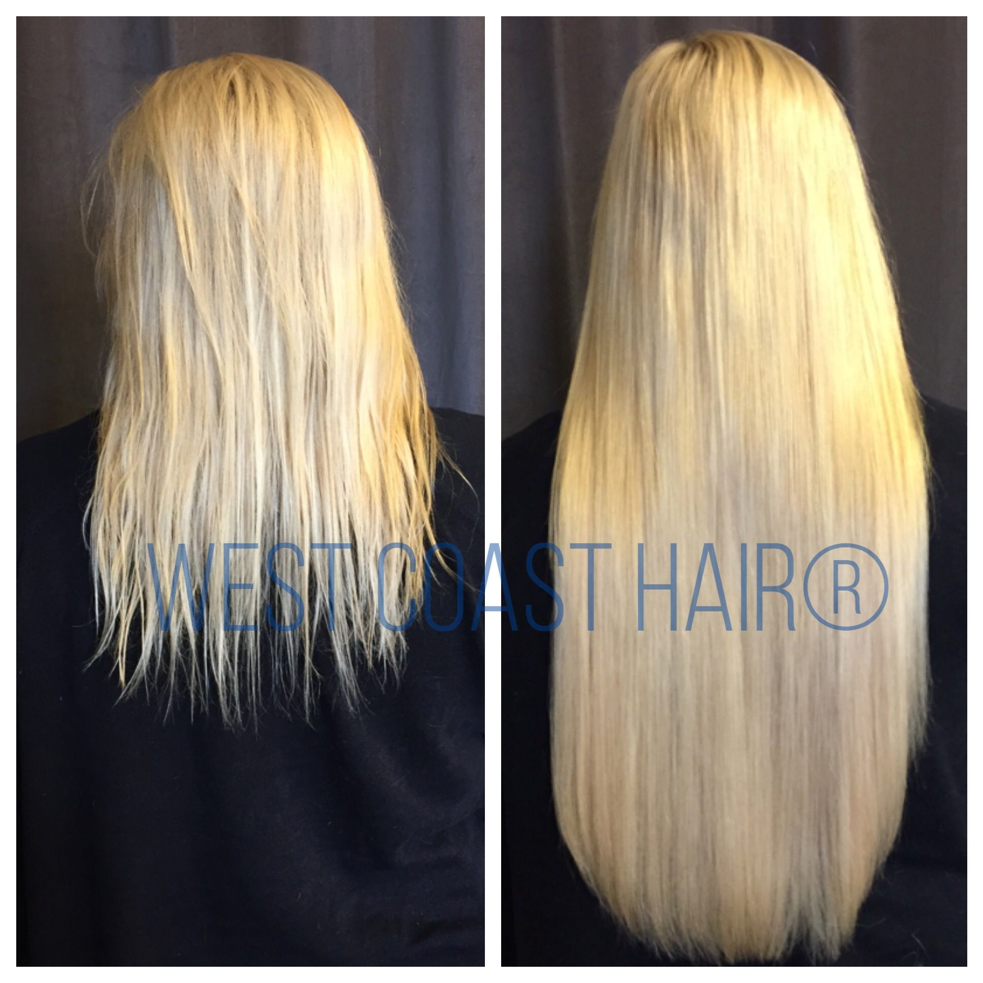 Blonde Bombshell Beforeandafter Hairextensions By Westcoasthair