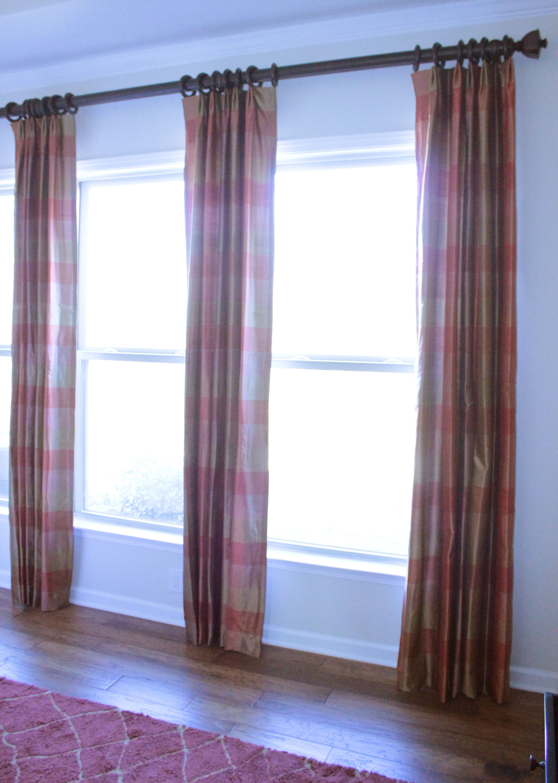 100% Silk Pleated Draperies with Finials, Rings, \u0026 Rod | Window ...
