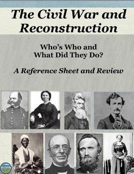 Who's Who in the Civil War and Reconstruction: Reference ...