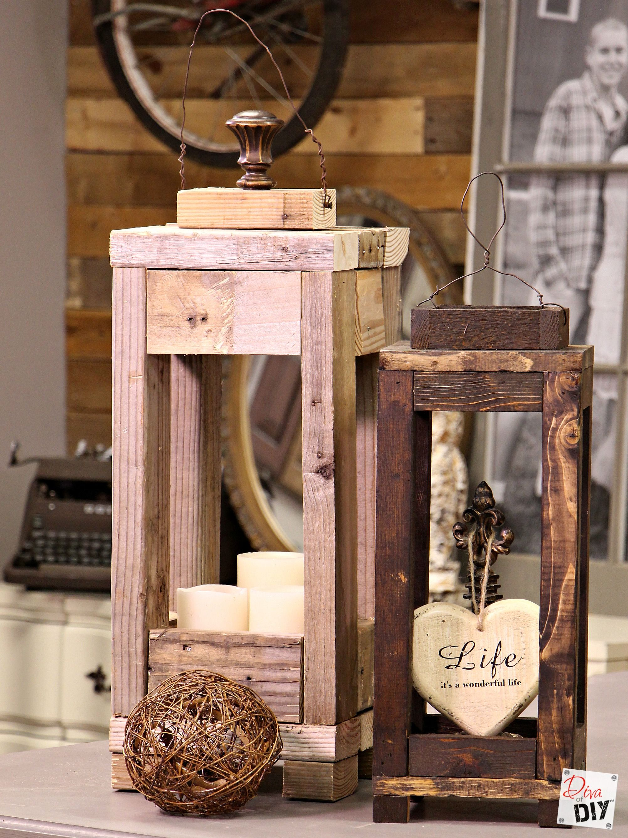 easy outdoor decor: how to make lanterns from scrap wood | outdoor
