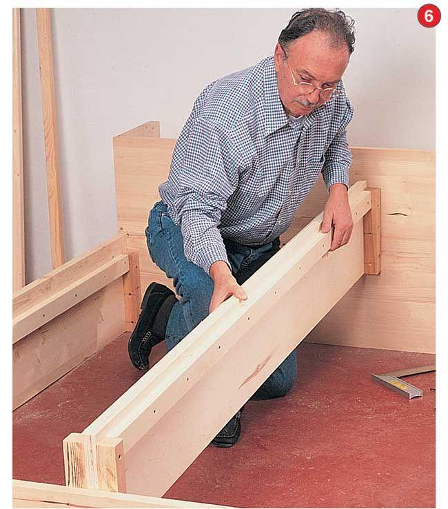 Come costruire un letto contenitore in legno massello nel ...