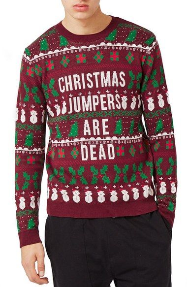 topman christmas jumpers are dead sweater - Nordstrom Christmas Sweaters