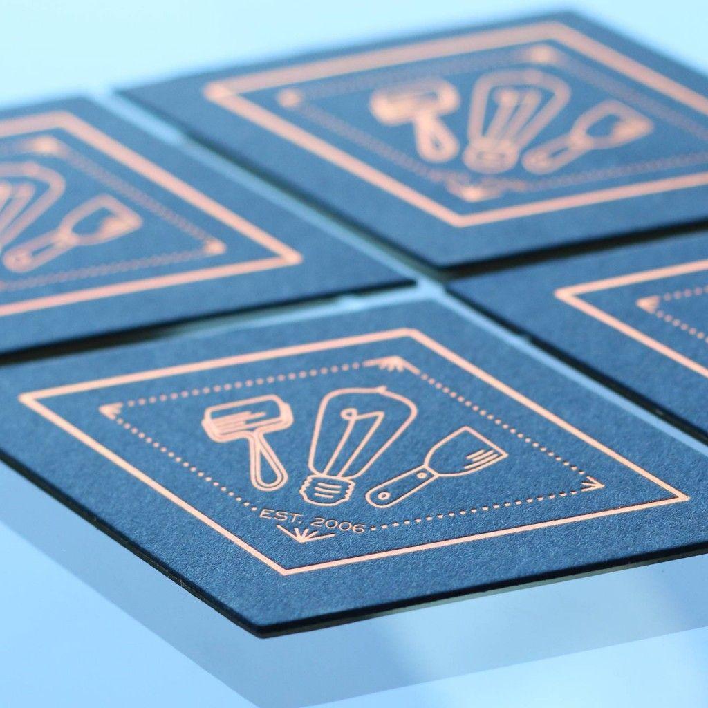 Copper foil business cards copper foil business cards