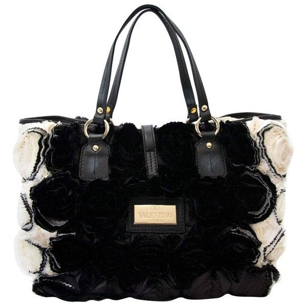 Valentino Rosette Black And White Shoulder Bag s0GjUTln20