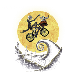 The Shadow on the Moon, Jack Skellington / Nightmare Before Christmas Design | TeeFury