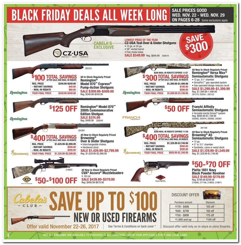 Cabela's Black Friday 2018 Ads and Deals