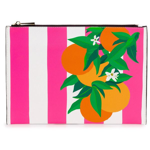 Orange Placement Print Clutch Bag ($86) ❤ liked on Polyvore featuring bags, handbags, clutches, pattern handbag, evening bags, orange handbags, evening hand bags and orange evening bag