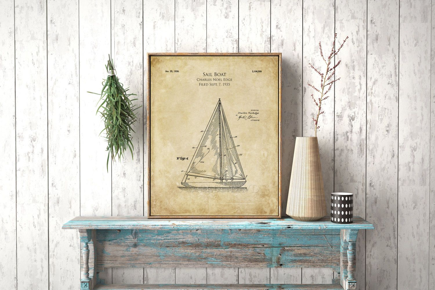16 x 20 1930s sailboat blueprint sailboat patent prints sail boat 16 x 20 1930s sailboat blueprint sailboat patent prints sail boat art print patent poster blueprint art nautical decor beach decor malvernweather Images