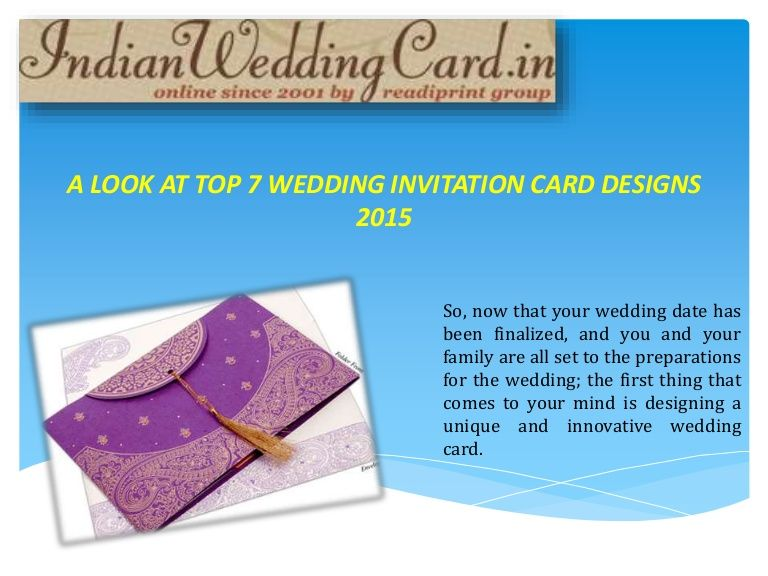 Have a look at Wedding invitation card designs 2015 @    www - invitation card decoration