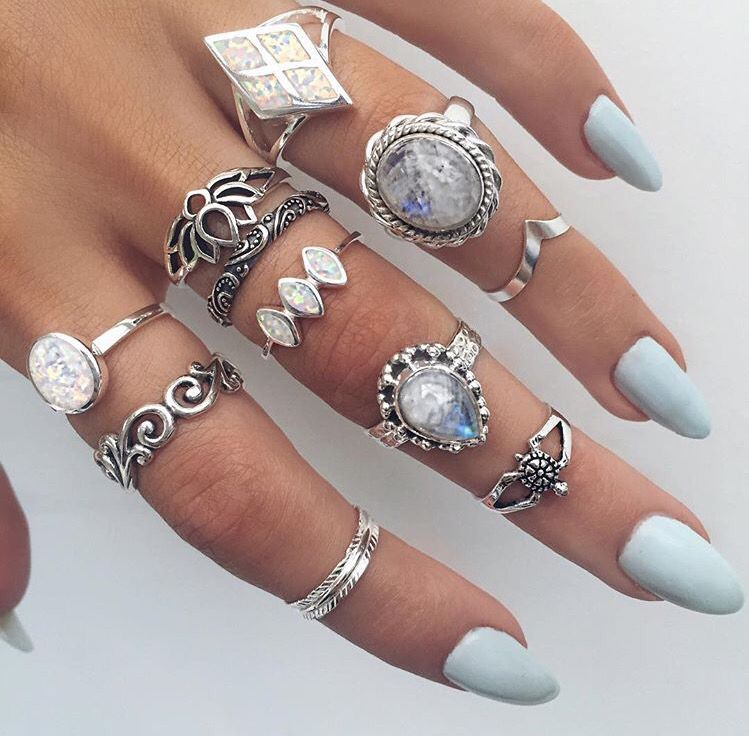 Beautiful rings from indigo lune | Midi rings | Pinterest ...