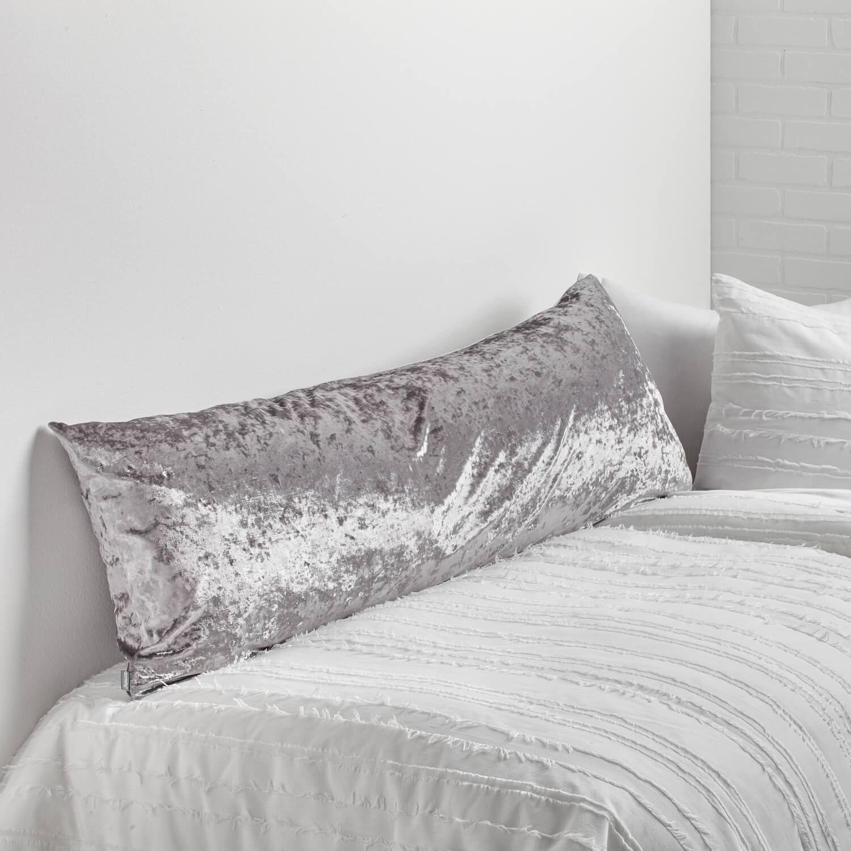 crushed velvet body pillow cover pre