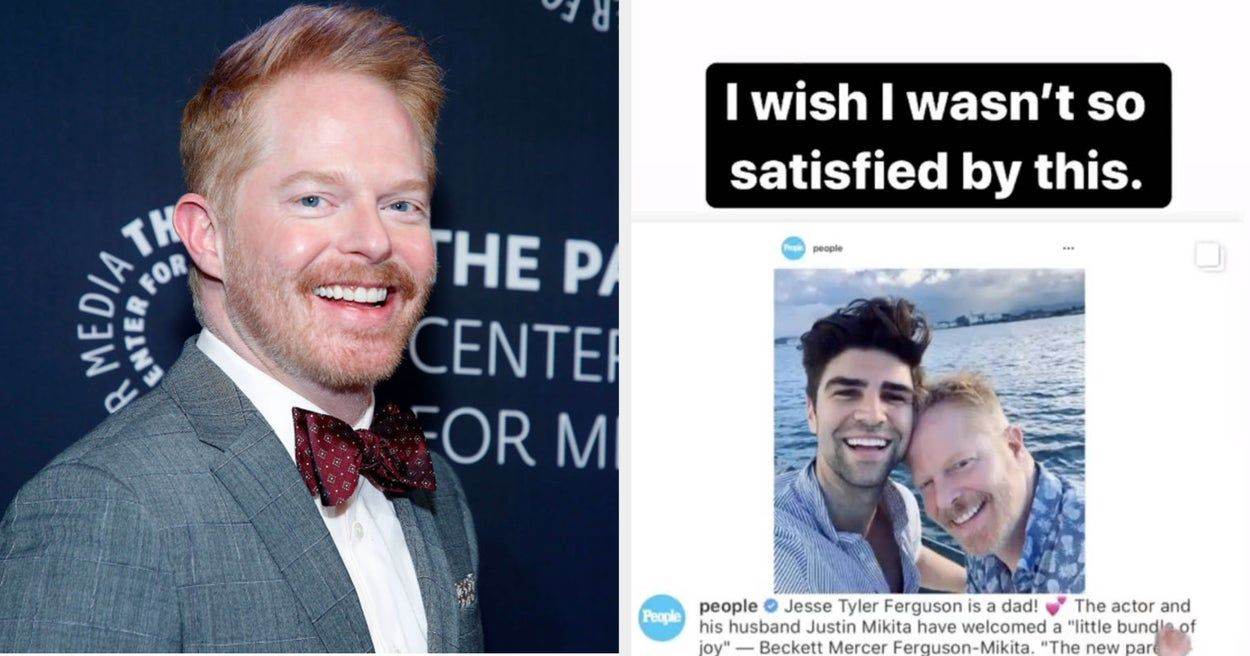 Jesse Tyler Ferguson Had The Perfect Response For Someone Who Called His Son S Name Stupid In 2020 New Baby Products Baby Names New Dads