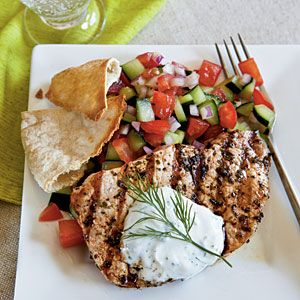 Greek style pork loin. Use Joseph's Pitas if on MRC program. #healthyporkrecipe