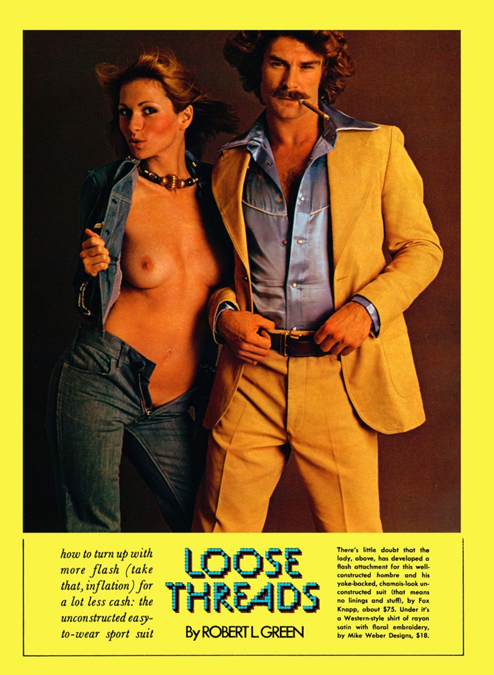 fashion studs: 1970s macho male models & their rarely-clothed