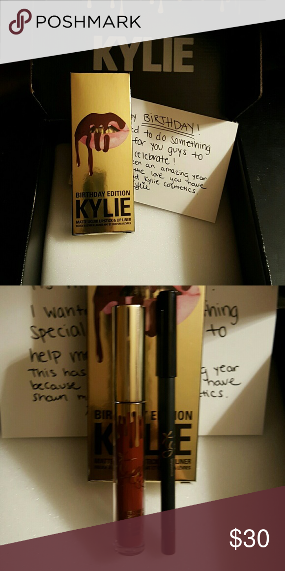 Kylie jenner birthday Leo matte Kylie jenner Birthday Leo matte lipstick (special edition) no longer available. Sorry I had to block out my personal info on receipts Kylie Cosmetics Makeup Lipstick