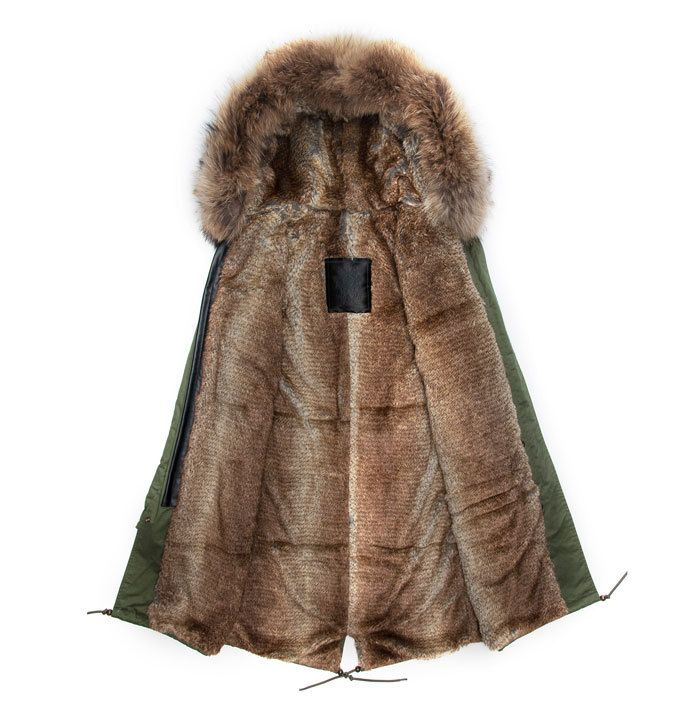 Light fashionable raccoon fur collar warm padding Men jacket men ...