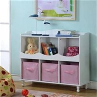 Inroom R1014 Cubby Storage Cabinet In White Furniture
