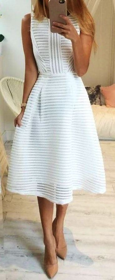 #Summer #Outfits White Dress