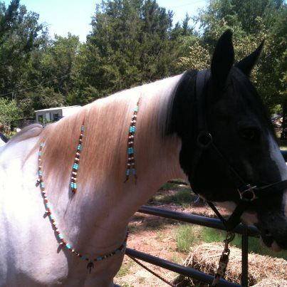 Christmas horse tack mane rhythm beads Costume for horse 2 pair ornaments mane and tail for draft pony Equine bling Jewelry clip mane