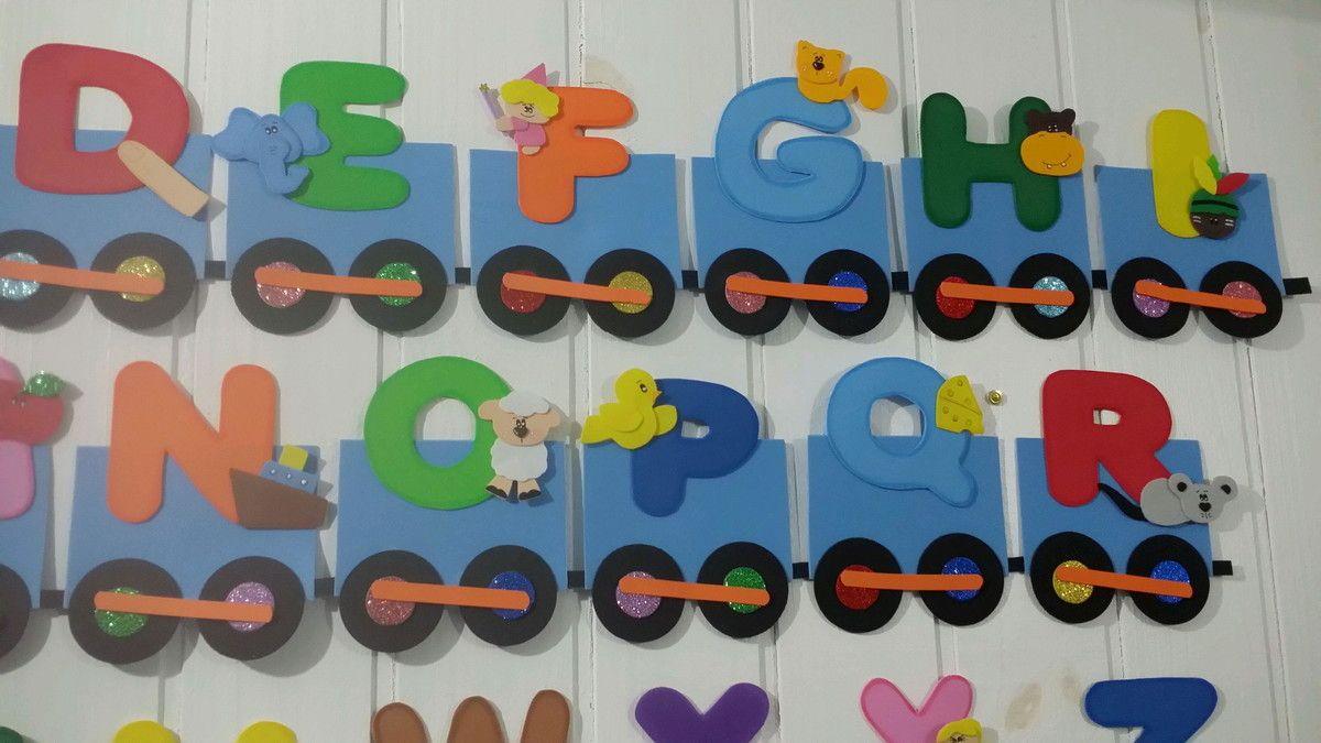 Trem Alfabeto Com Imagens Decoracao Sala Decoracao Sala De