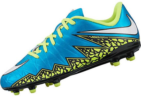 best sneakers 2c0bc 88990 Nike Kids Hypervenom Phelon II FG Soccer Cleats - Blue and ...