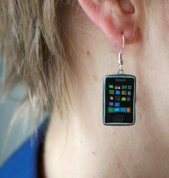 Iphone ear ring !