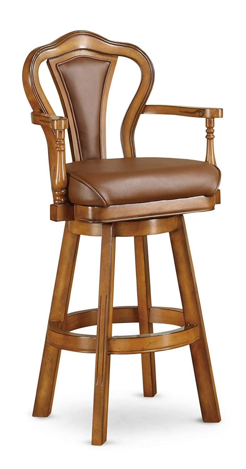 Pin On Leather Bar Stools With Backs And Arms