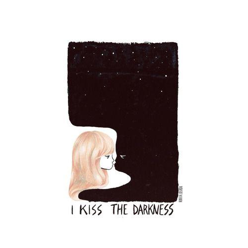 I KISS THE DARKNESS.  Rebeca Losada, 2013.  Color pencils, ink.