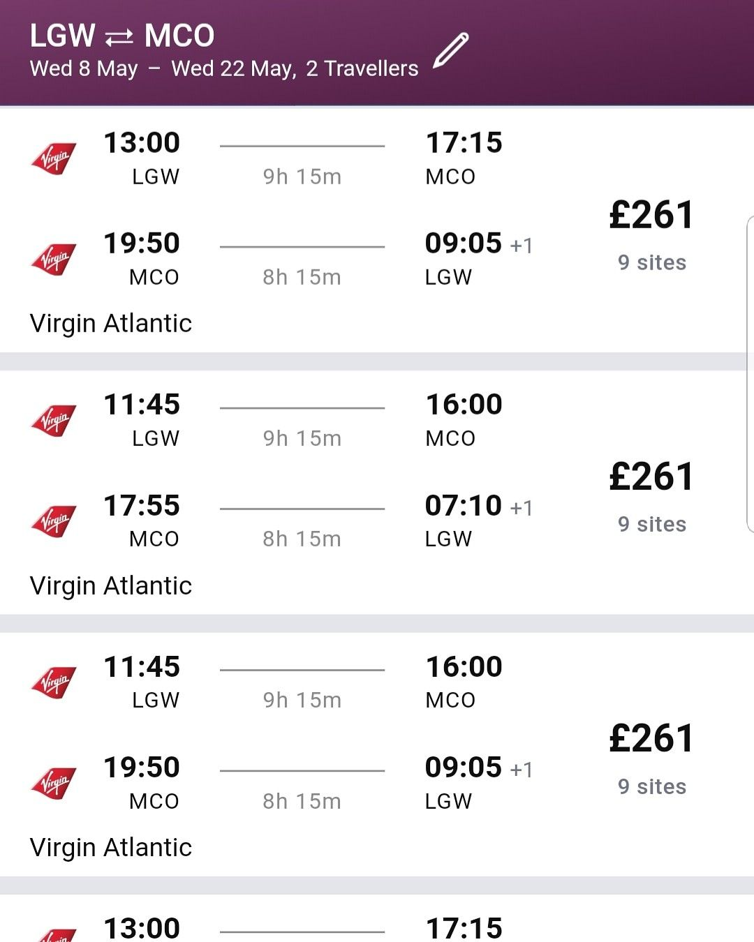 ORLANDO MAY 2019 DEAL!!! Direct flight ONLY £261 00 per person