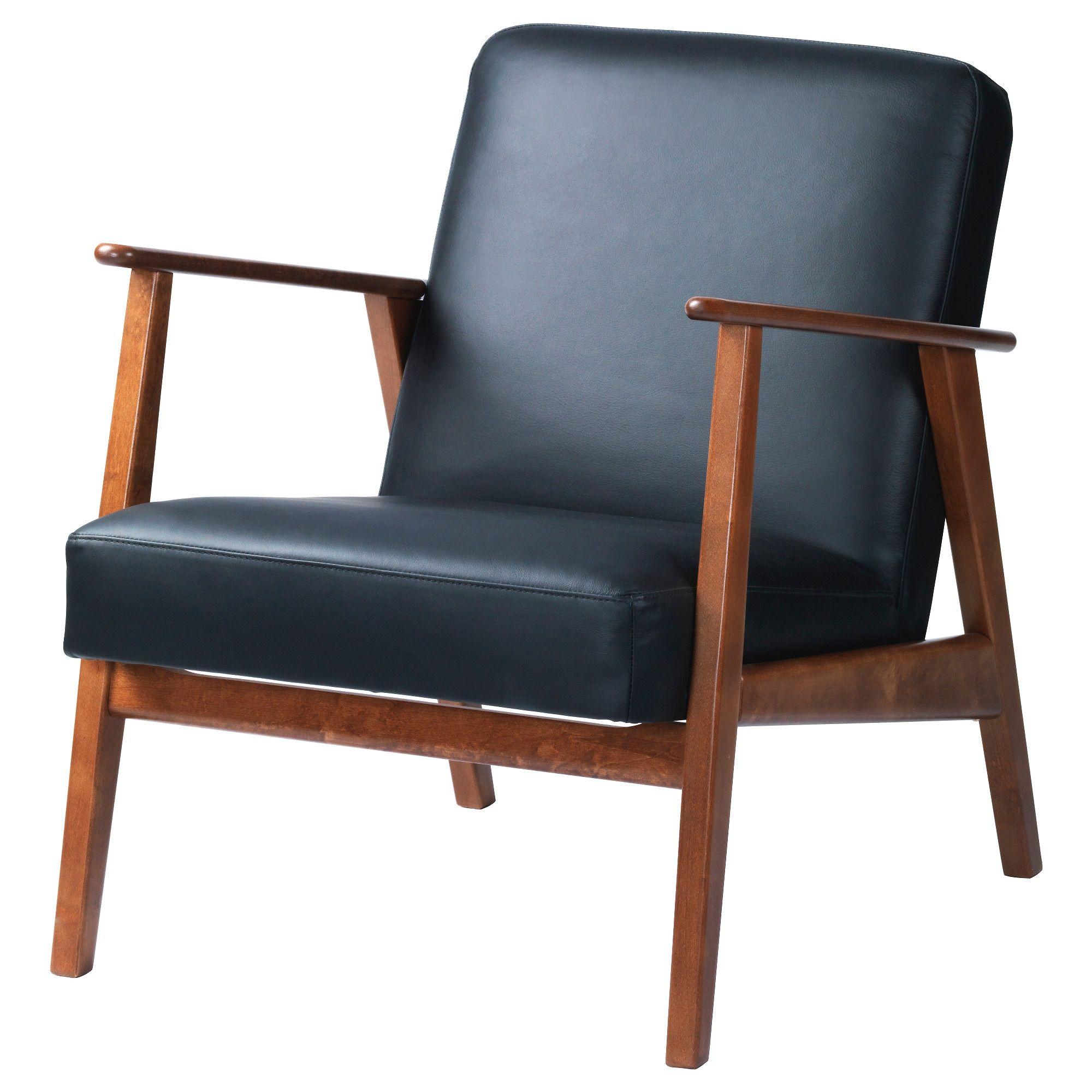 EKENÄSET Sessel - Idhult schwarz | Sessel, Armlehnen und ...