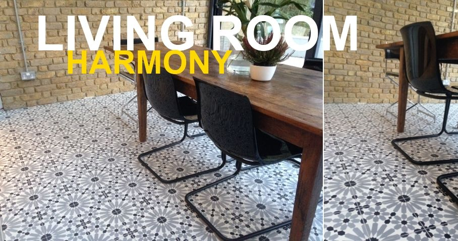 Encaustic Tiles In Livingroom UK
