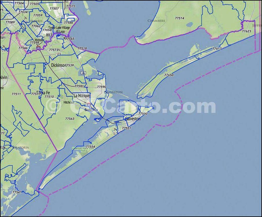 Galveston Texas Zip Code Map Galveston County, TX Zip Codes | Galveston, Coding, County