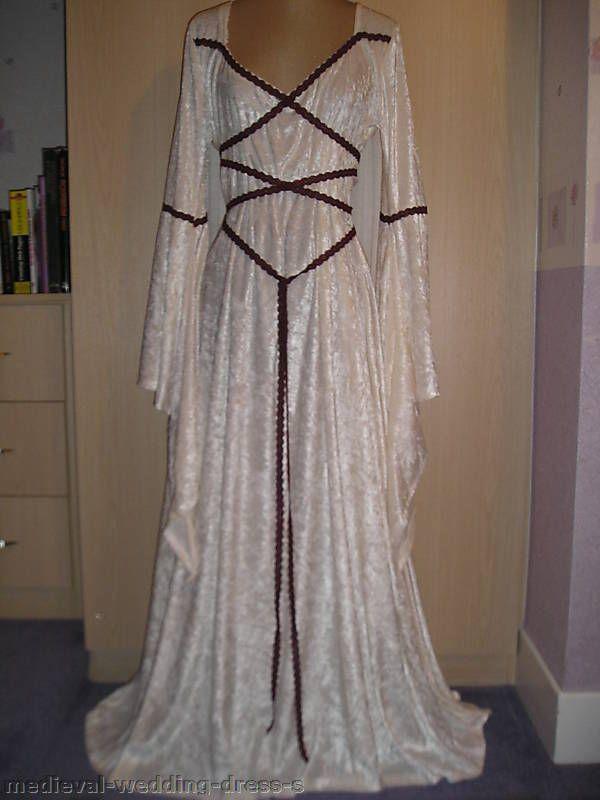 Maid Marian medieval pagan Wedding dress handfasting laced bodice LOTR  gothic eeb067cfc