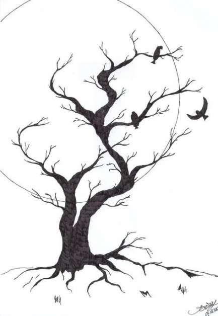 54 Trendy Creepy Tree Sketch Beautiful Tree Sketches Tree Art Tree Drawing