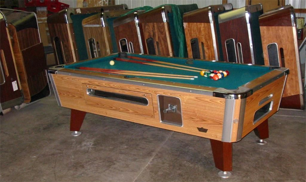 Valley Cougar Bar Size Commercial 7u0027 Coin Operated Pool Table. Refurbished