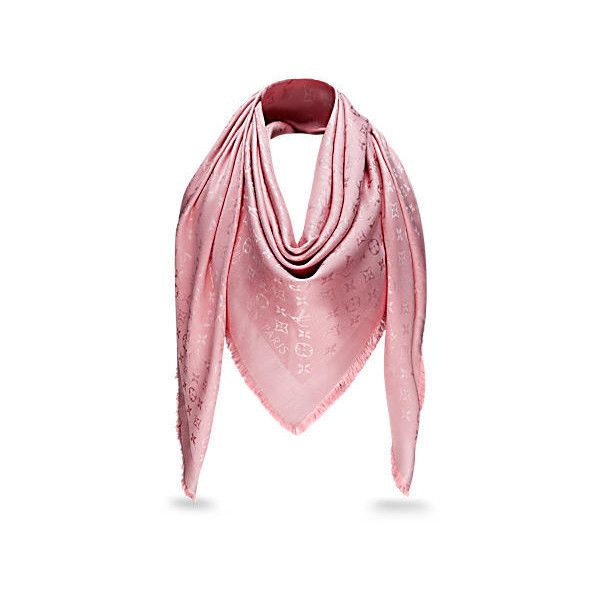 Monogram Shawl ($590) ❤ liked on Polyvore featuring accessories, scarves, monogrammed scarves, print scarves, monogram shawl, shawl scarves and patterned scarves