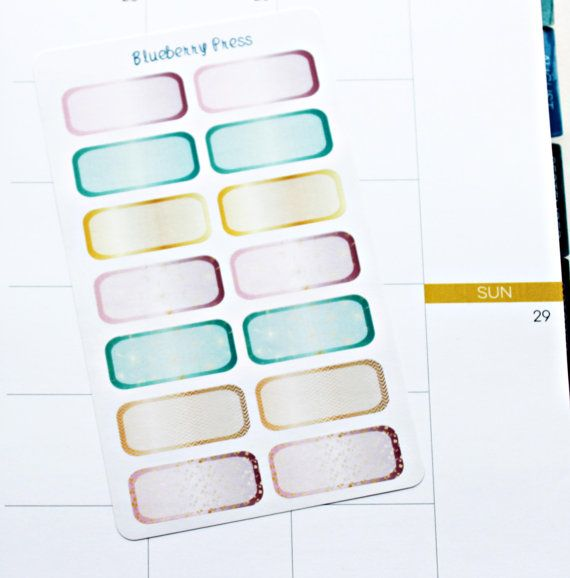 Quarter Boxes planner stickers Limelife planner by BlueberryPress