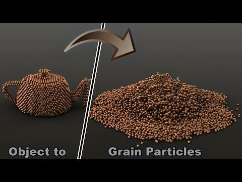 3ds max | 3D Teapot to Physical Particles(grains) and Simulate